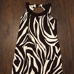 Kim Rogers Brown White Womens Dress Size 14